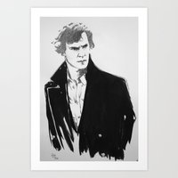 cumberbatch Art Prints featuring Benedict Cumberbatch by Nina Viola Pantoufle