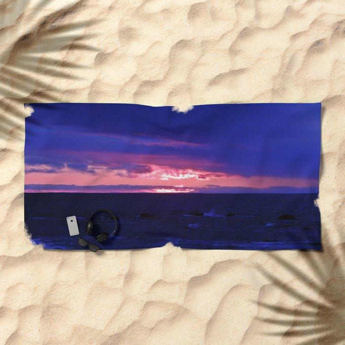 Purple Twilight Beach Towel
