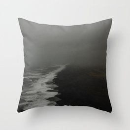 Vik Black Sand Beach Throw Pillow