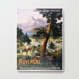 Auvergne, French Travel Poster Metal Print