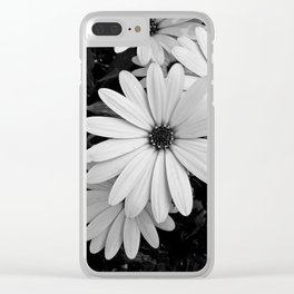 Blooming white daisy garden Clear iPhone Case