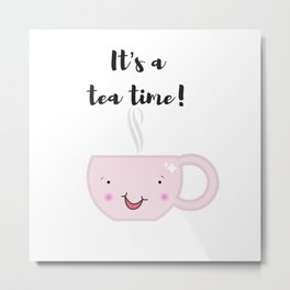Tea time illustration Metal Print