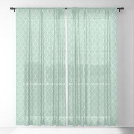 Chicken Wire Mint Sheer Curtain