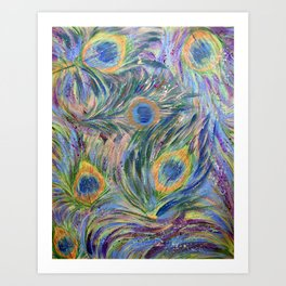 Abstract Peacock Art Print