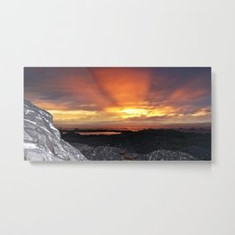 Sunset on the Rocks Metal Print