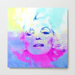 Norma Marylin 3 Metal Print