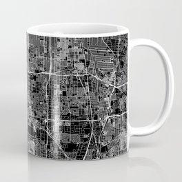 Los Angeles Black Map Coffee Mug