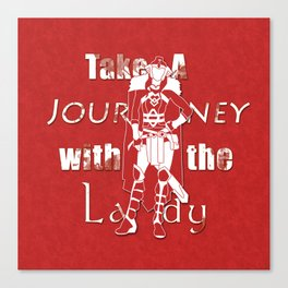 Take A Journey With The Lady Canvas Print
