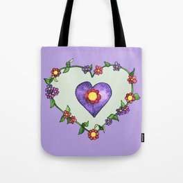 Heartily Floral Tote Bag