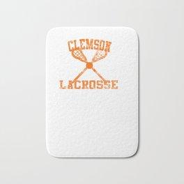 Vintage Clemson Lacrosse  Pullover Hoodie Bath Mat