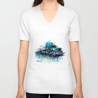 truck V-neck T-shirts featuring Truck by Svetlana Sewell