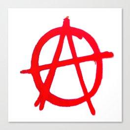 Anarchy Graffiti Canvas Print