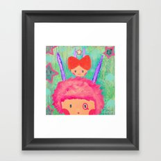 Confused day Framed Art Print