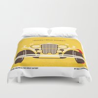 fitzgerald Duvet Covers featuring No206 My The Great Gatsby minimal movie poster by Chungkong