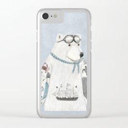 the arctic explorer Clear iPhone Case