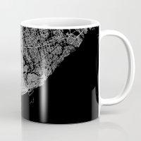 toronto Mugs featuring toronto map by Line Line Lines