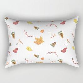 Autumn Fall Leaves Print Rectangular Pillow