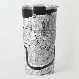 New Orleans Map Gray Travel Mug