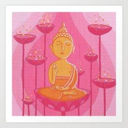 Buddha G Art Print