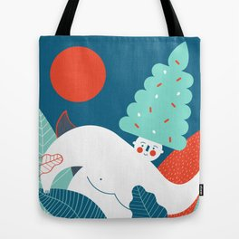 Ice Cream Hairstyle Tote Bag
