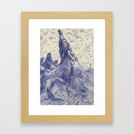 Sea Lion Centaur Framed Art Print