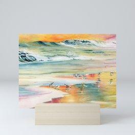 Shoreline Watercolor Mini Art Print