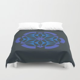 Stealthy sense | Abstract sacred geometry | Aliens crop circle Duvet Cover
