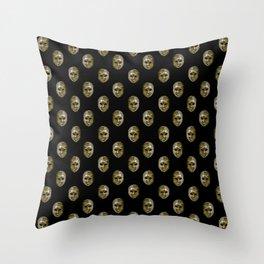 Venetian Mask Motif Pattern Throw Pillow