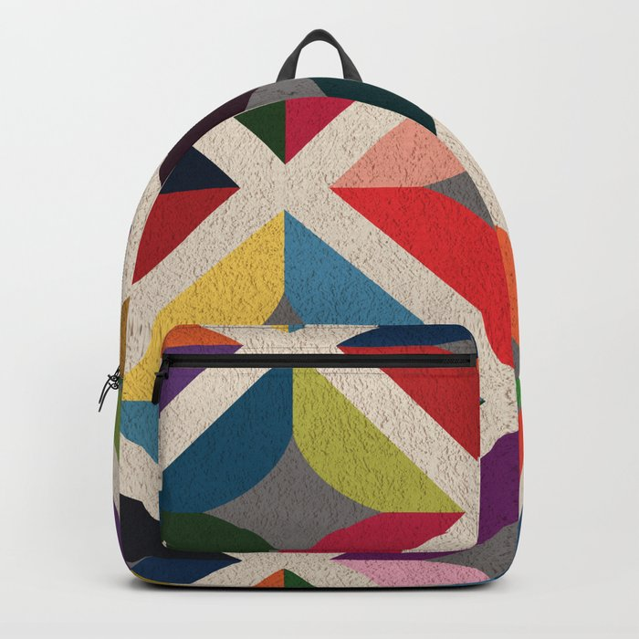 Colourful Geometric Backpack