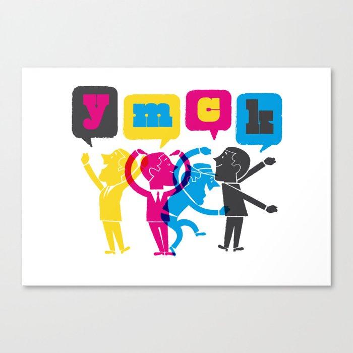 YMCK Canvas Print