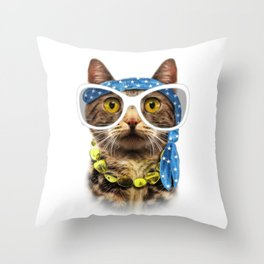 Cat illustration. Throw Pillow