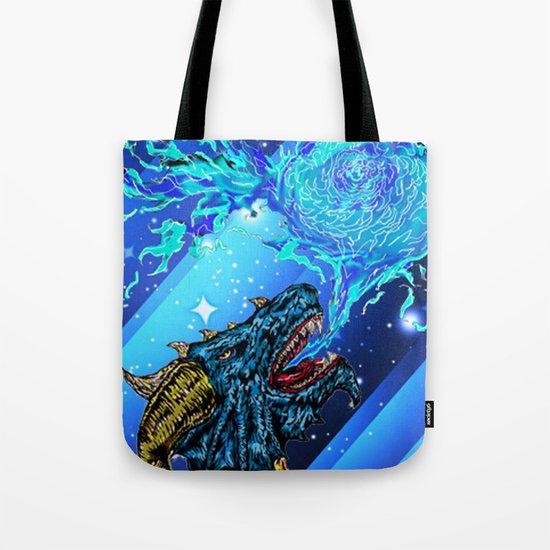 blue dragon fire artist Tote Bag