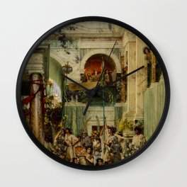 "Sir Lawrence Alma-Tadema ""Spring"" Wall Clock"