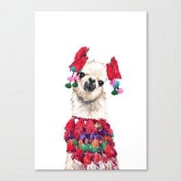 Coolest Llama Canvas Print