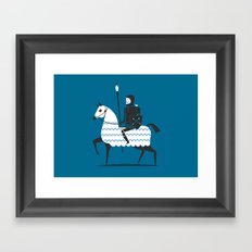 fight with your art  Framed Art Print