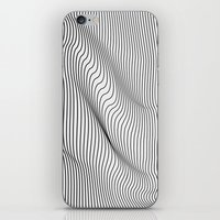 flag iPhone & iPod Skins featuring Minimal Curves by Leandro Pita