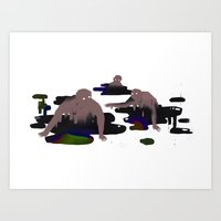 oil Art Prints featuring Oil by Daniel Zender