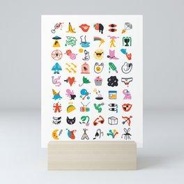 Relevant Symbols Mini Art Print
