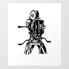 Vintage Motion Picture Film Camera Graphic Art Print