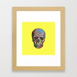 The Happy Skull (Yelow) Framed Art Print