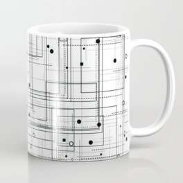 Black and white geometric abstract pattern Coffee Mug