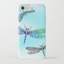 Dragonflies and Blue Skies iPhone Case