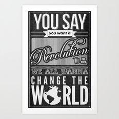Revolution.  Art Print