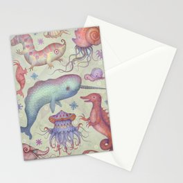 Creatures of the Deep Sea Stationery Cards
