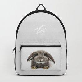 Bunny rabbit sitting Backpack