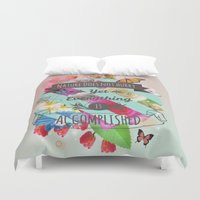 shih tzu Duvet Covers featuring Nature Lao Tzu quote by James Thornton
