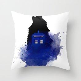 Dr.Who, Art, Design, Dr. Who Art, BadWolf, Bad Wolf Throw Pillow