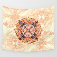chakra Wall Tapestries featuring Chakra Mandala by Peta Herbert