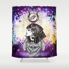 Goddess Isis and the Reigning Light Shower Curtain