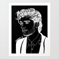 zayn Art Prints featuring Zayn by andjustlove